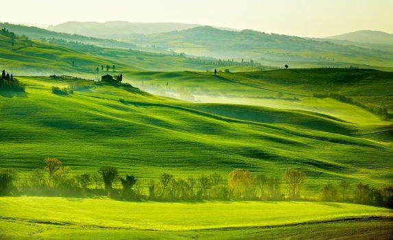 トスカーナの田園風景 イタリアの風景