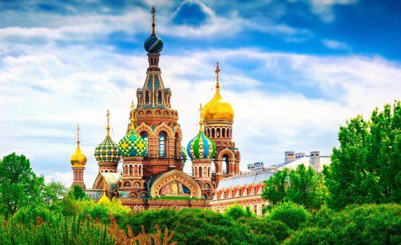 血の上の救世主教会 サンクトペテルブルクの風景 ロシアの風景