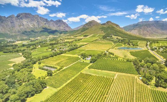 フランシュホークの田園風景 南アフリカの風景