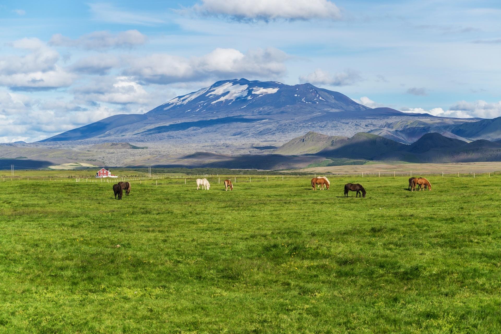 ヘクラ山 アイスランドの風景