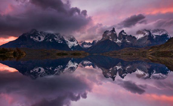 トレス・デル・パイネの幻想風景 チリの風景