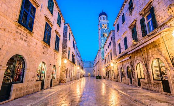 ドゥブロヴニク旧市街の風景 クロアチアの風景