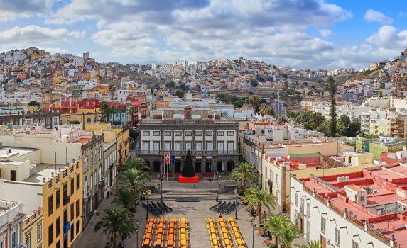 ラス・パルマスのダウンタウンの風景 スペインの風景