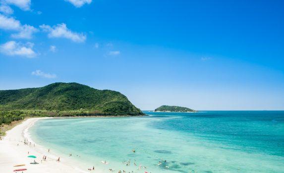 青い海と美しいビーチの風景 タイの風景