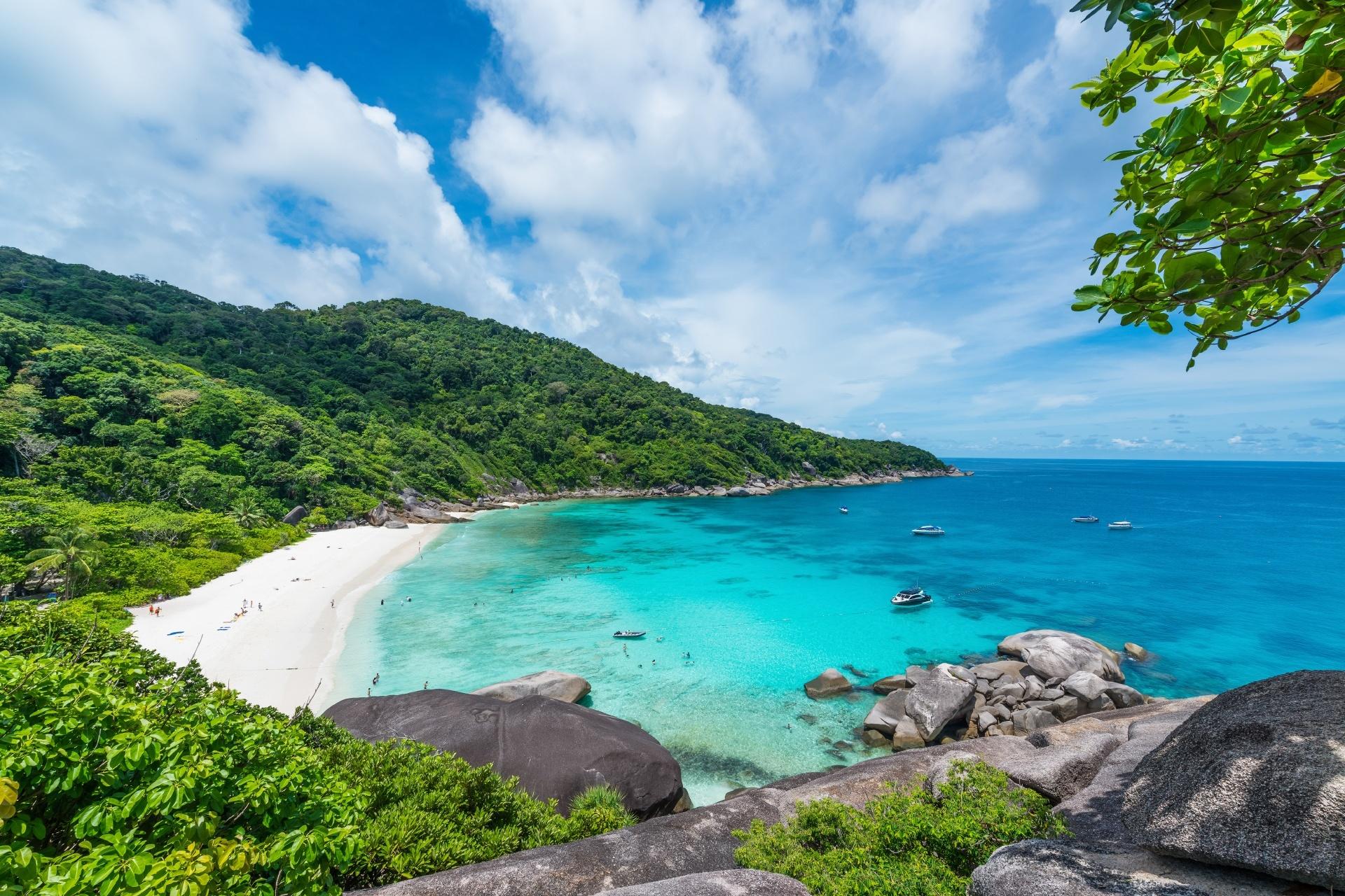 アンダマン海 シミラン島の風景 タイの風景