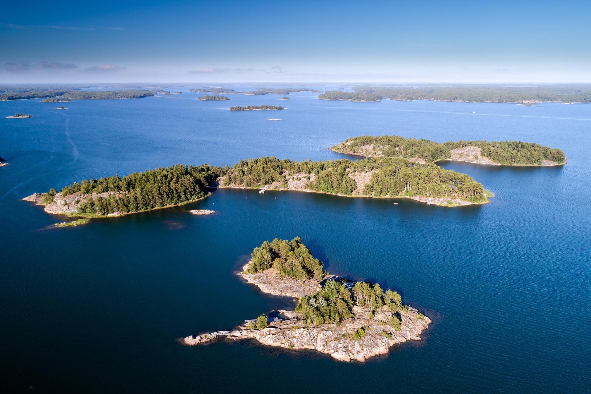 夏のフィンランド諸島の風景 フィンランドの風景