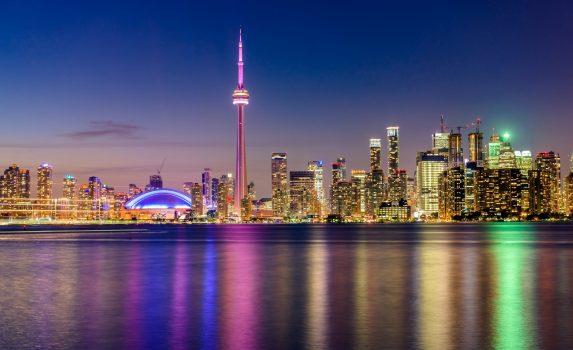 トロントの夜景 カナダの風景