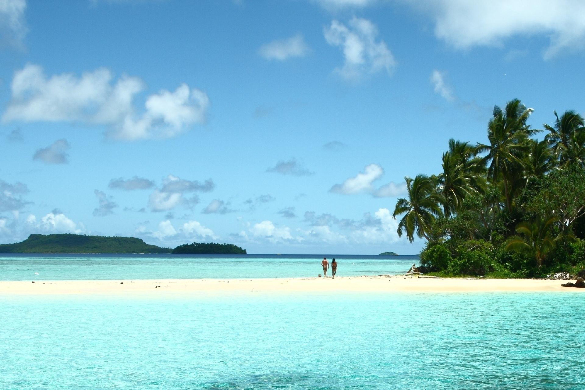 ヌク島の風景 トンガの風景