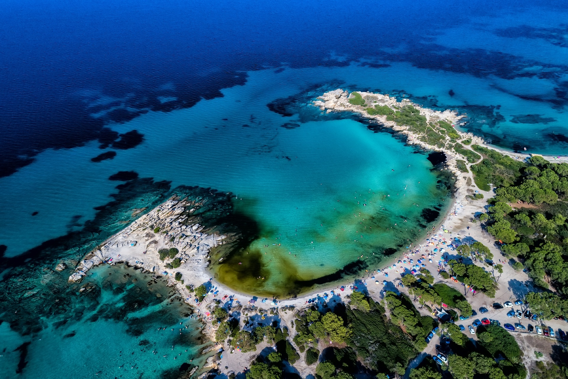 空から見るカリディビーチ ギリシャの風景