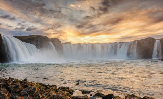 ゴーザフォスの風景 アイスランドの風景
