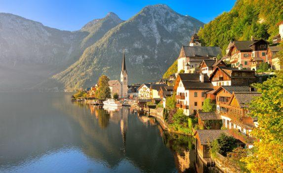 ハルシュタット湖 オーストリアの風景