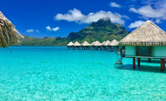ボラボラ島の風景 タヒチの風景