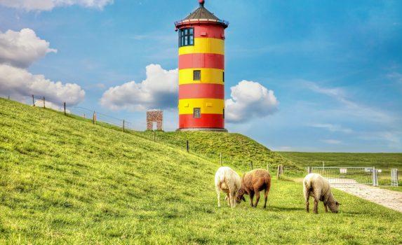 北海沿岸の風景 ドイツの風景