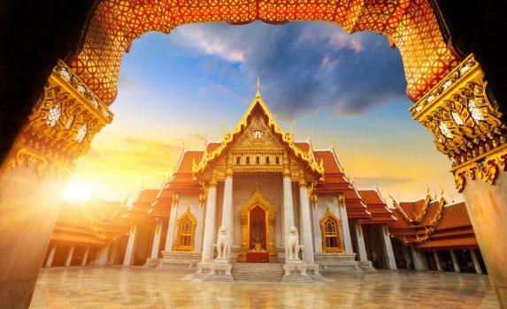 大理石寺院の風景 タイの風景