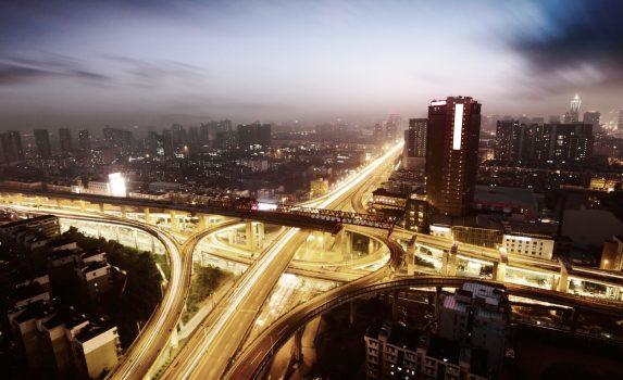夜の長沙 中国の風景
