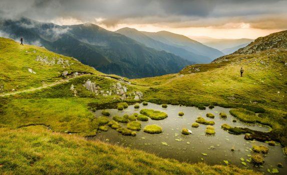 ブレア湖そばの風景 ルーマニアの風景