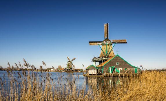 ザーンセ・スカンスの風車のある風景 オランダの風景