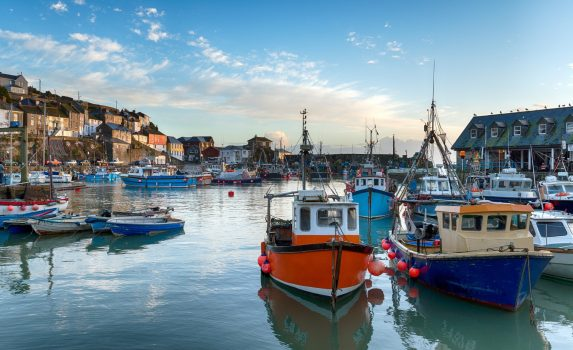 コーンウォールの港の風景 イギリスの風景