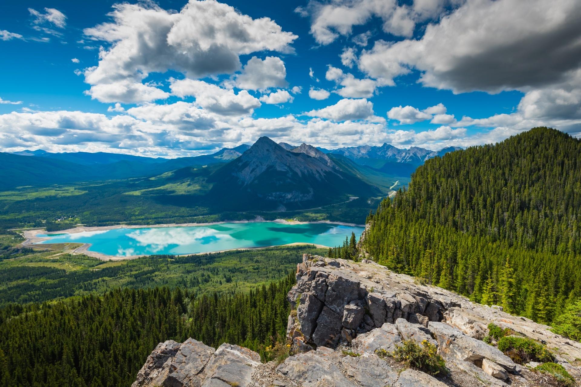 バリア湖の風景 カナダの風景