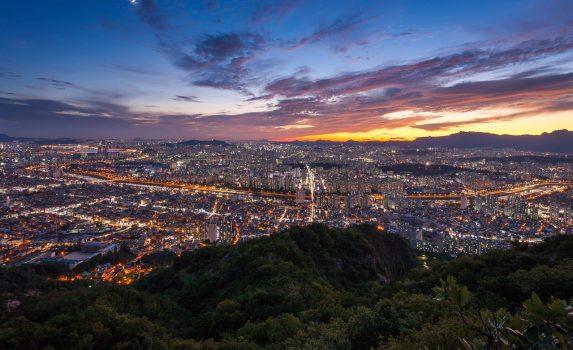 夕暮れのソウル 韓国の風景