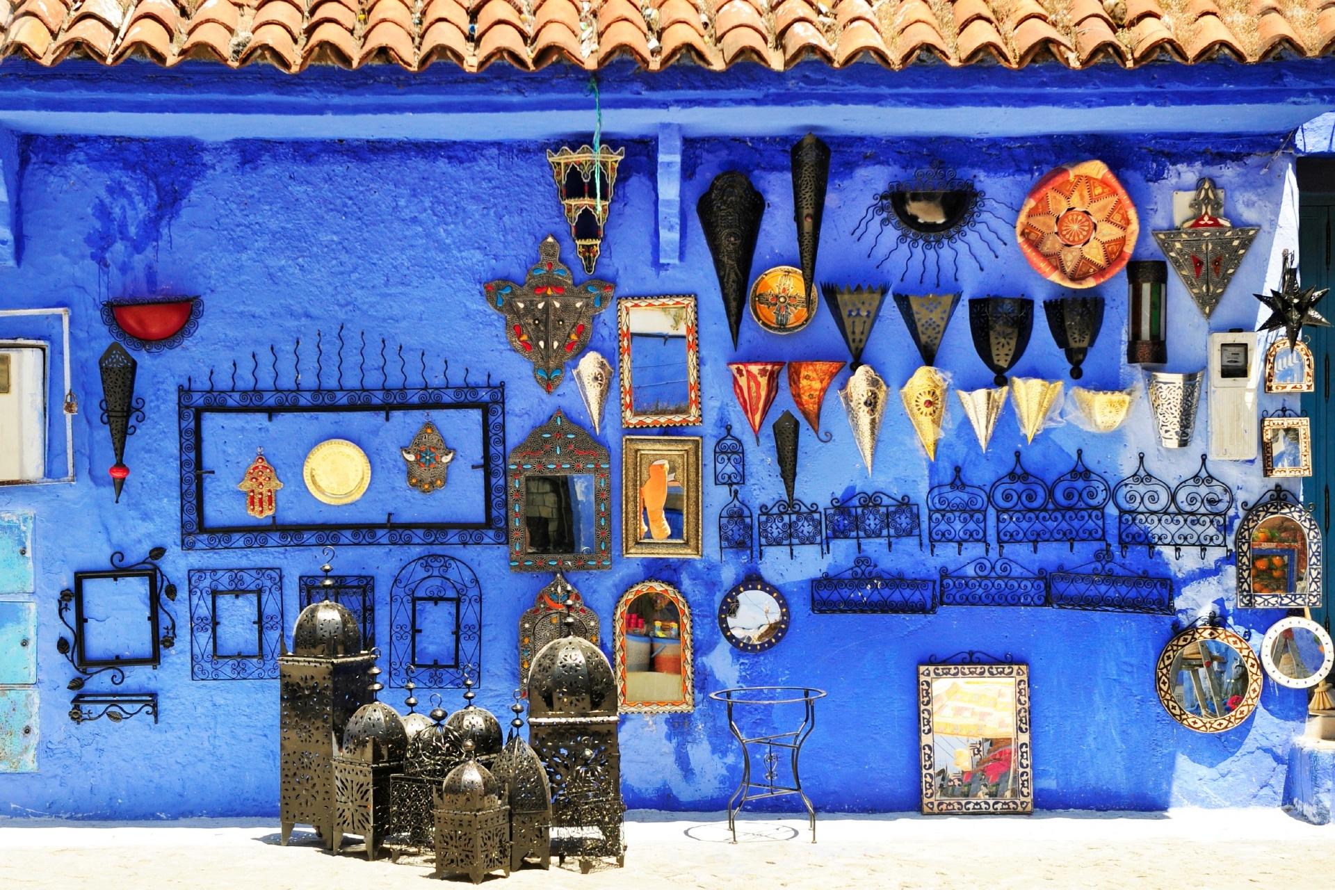 シャウエンの旧市街 モロッコの風景
