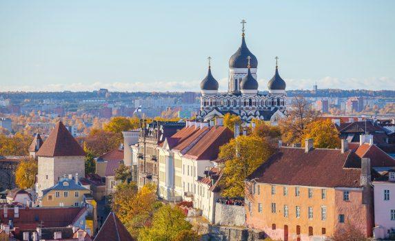 聖オラフ教会から眺めるタリンの街並み エストニアの風景