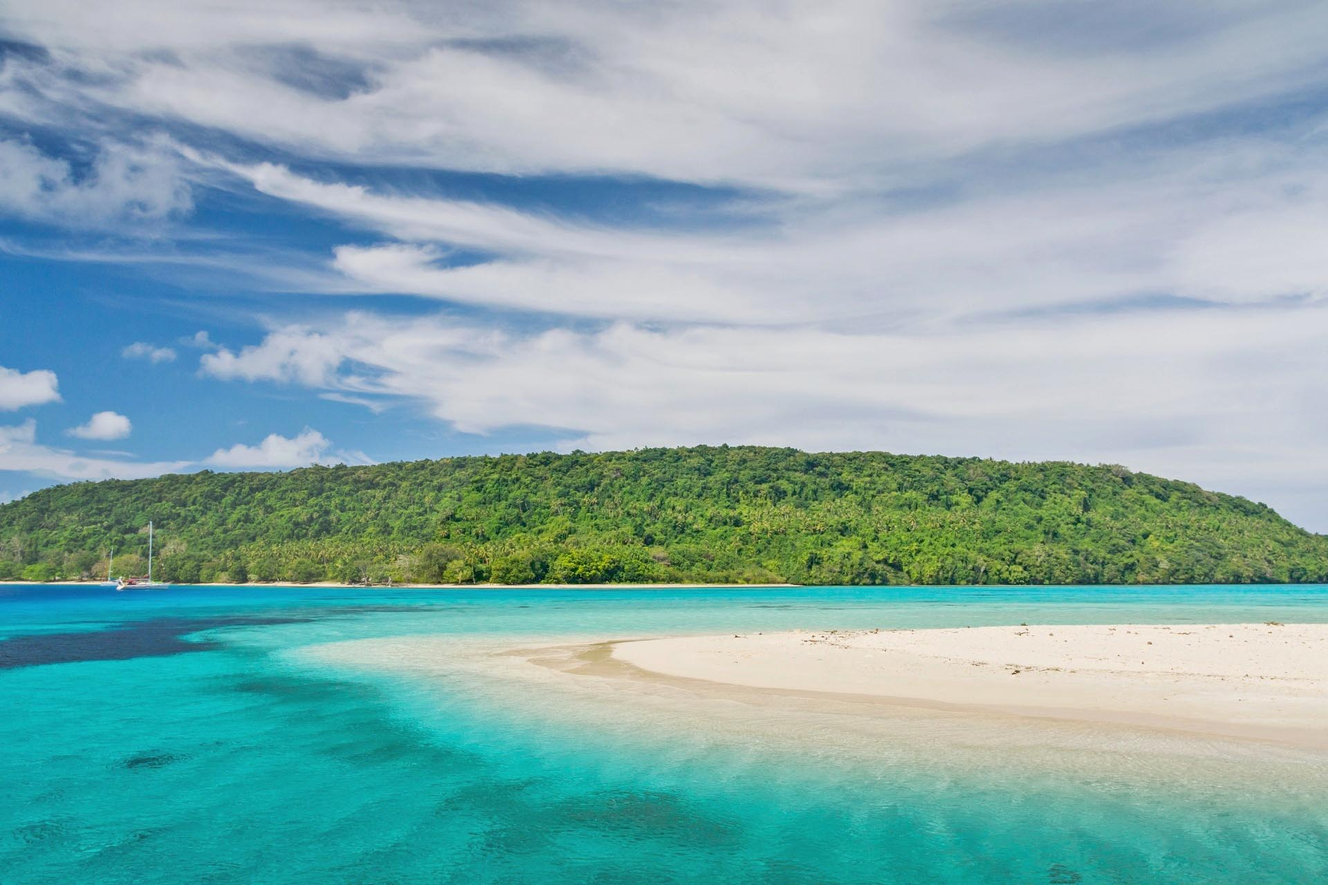 ホワイトサンドビーチ トンガの風景