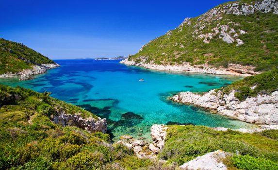 ケルキラ島の風景 ギリシャの風景
