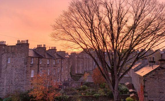 夕暮れのエジンバラの風景 スコットランドの風景
