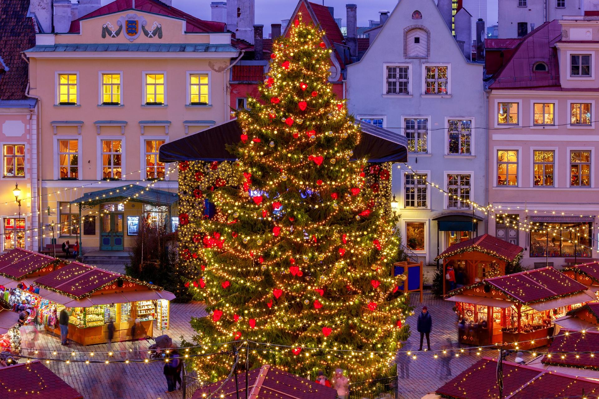 エストニアのクリスマスの風景 タリン エストニアの風景