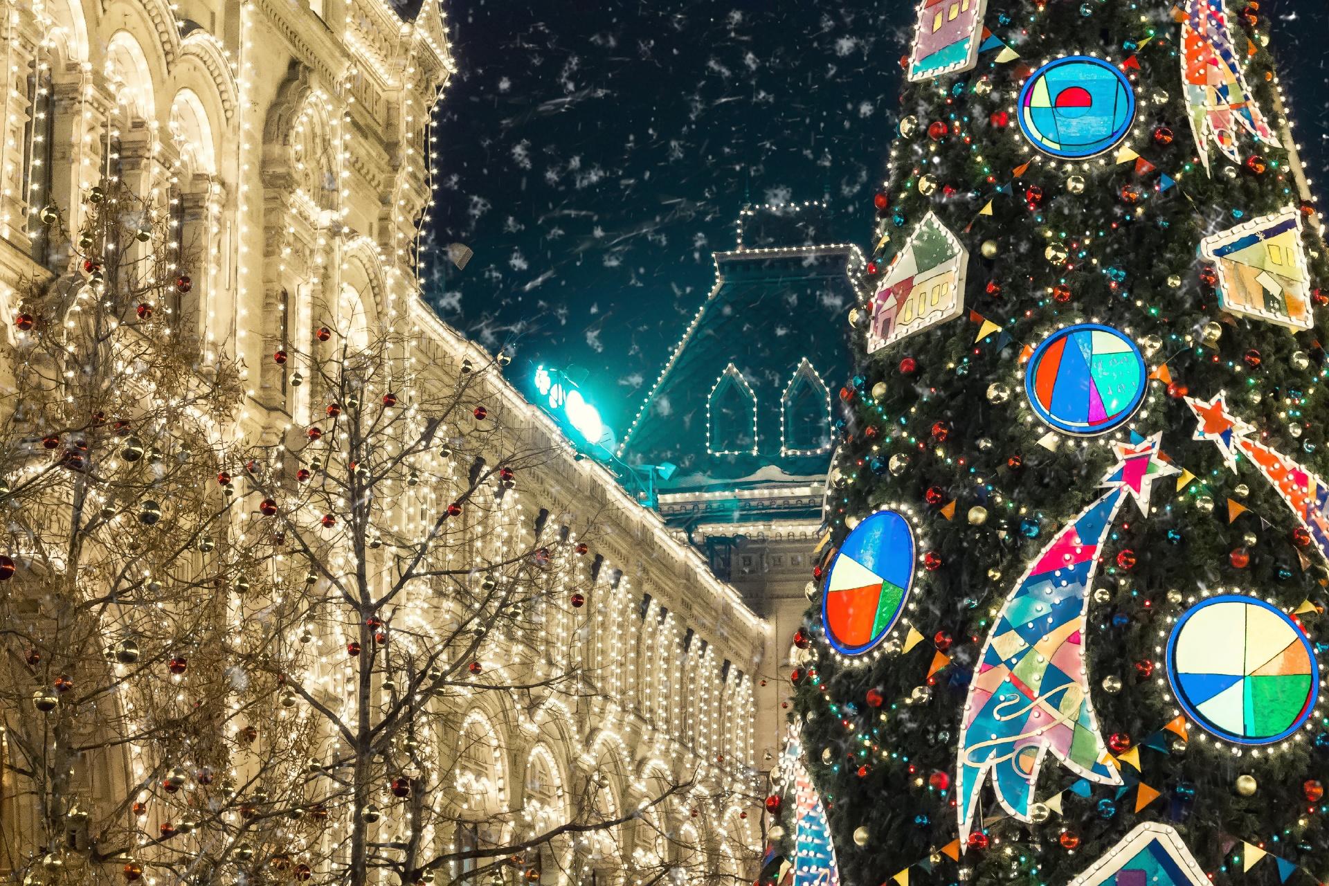 モスクワのクリスマスの風景 ロシアの風景