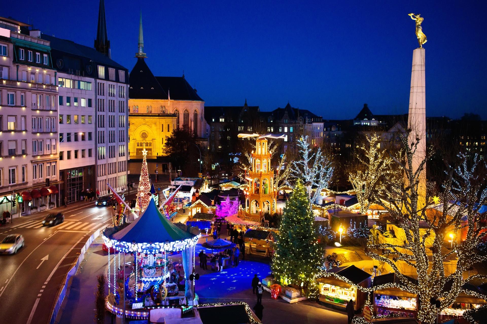ルクセンブルクのクリスマス ルクセンブルクの風景