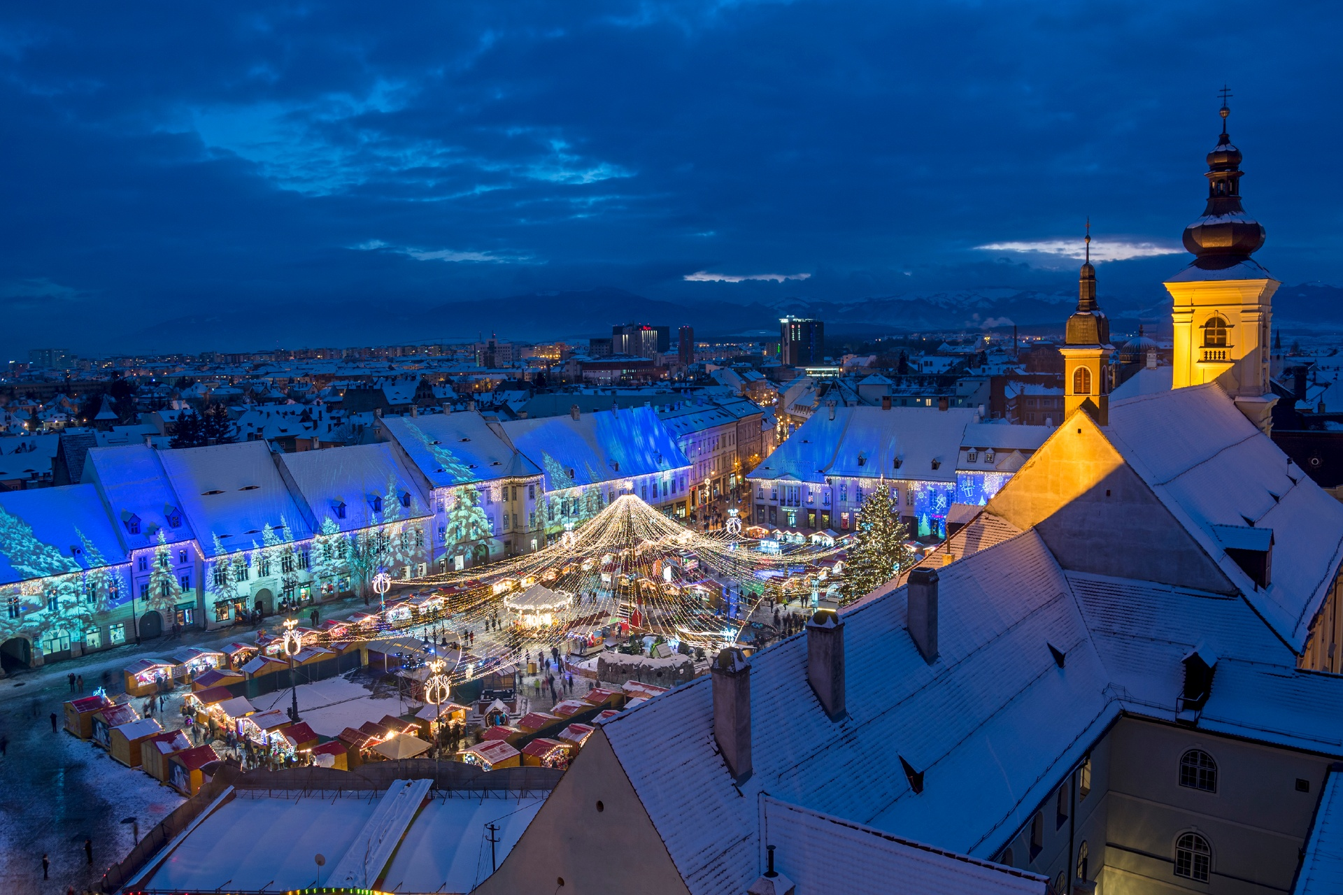 ルーマニアのクリスマス シビウ ルーマニアの風景