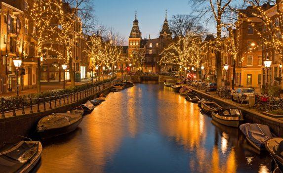 オランダのクリスマス アムステルダム オランダの風景