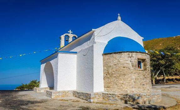 ナクソスの教会 ギリシャの風景