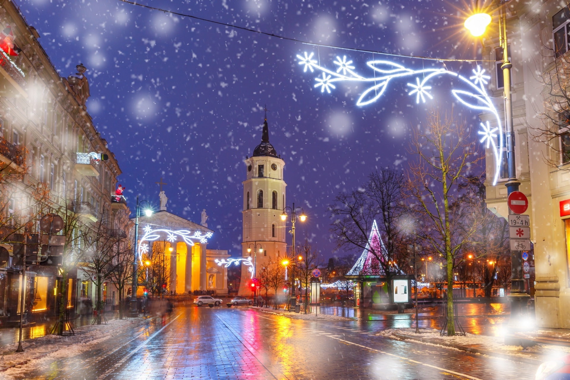 リトアニアのクリスマス ビルニュス リトアニアの風景