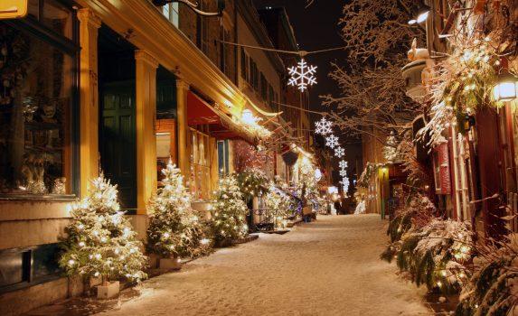 カナダのクリスマス ケベック・シティ カナダの風景