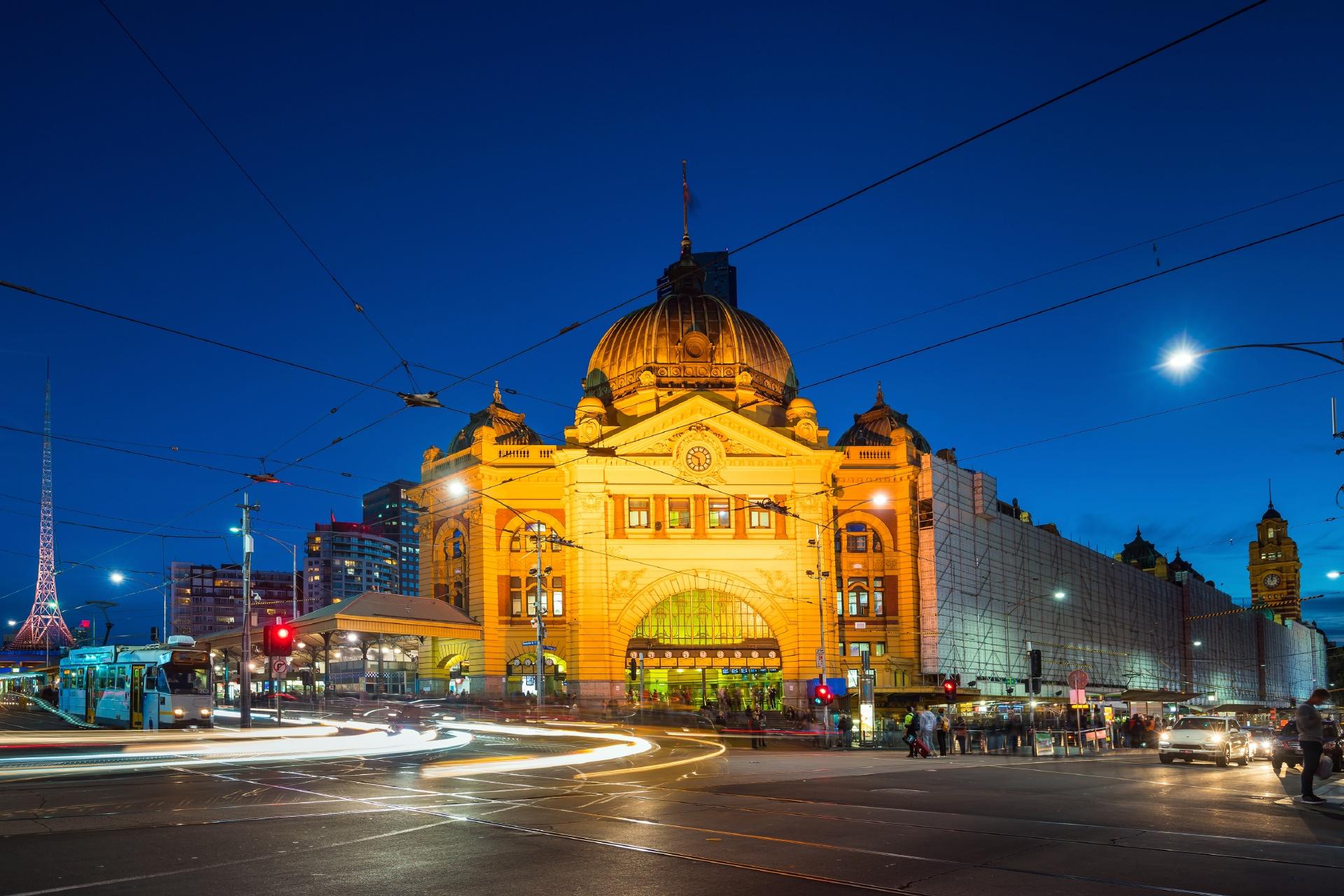 夜のメルボルン オーストラリアの風景