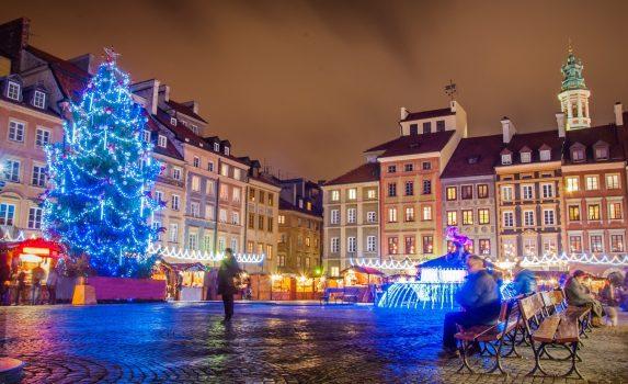 ポーランドのクリスマス ワルシャワのクリスマスマーケット ポーランドの風景