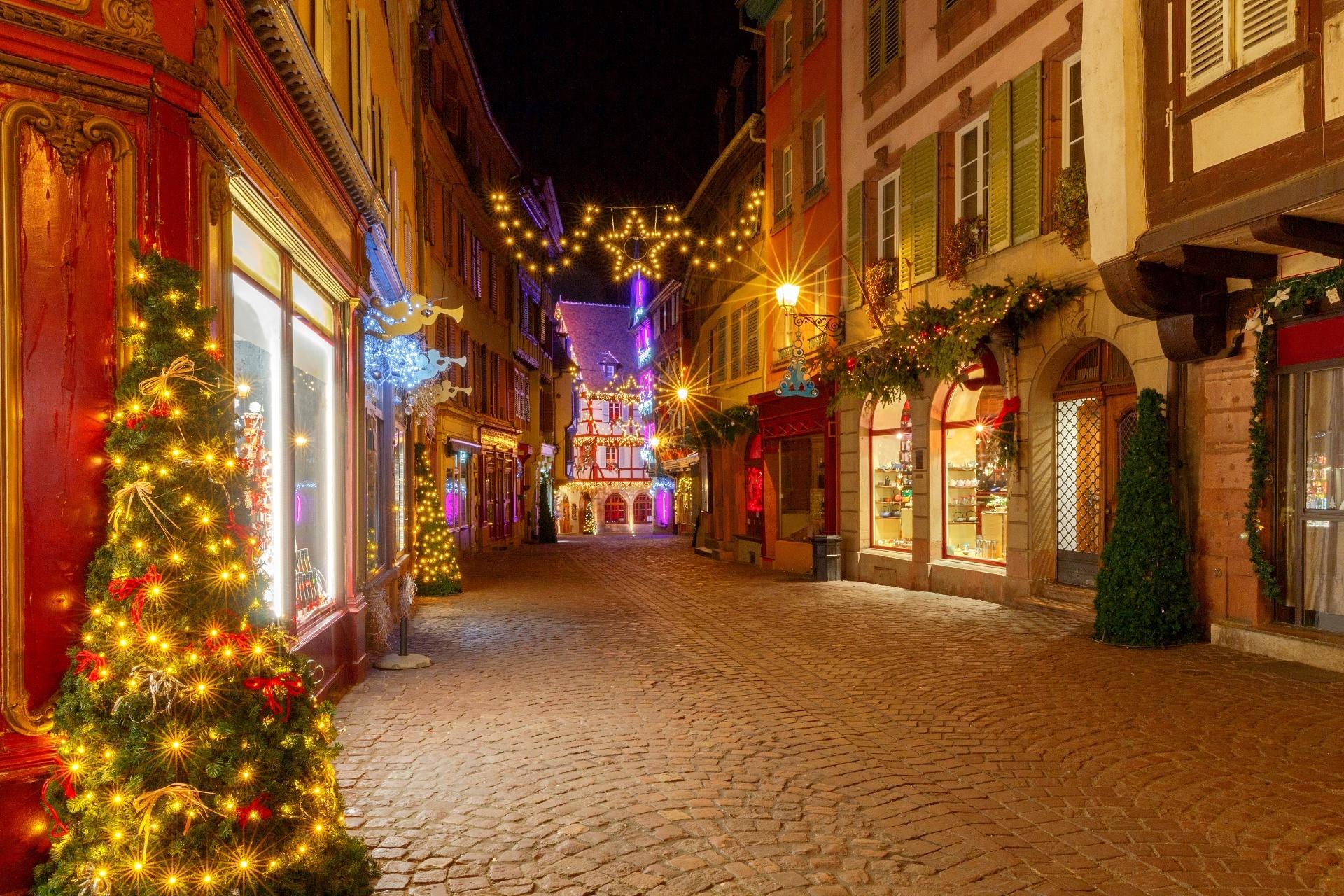 フランスのクリスマス コルマール フランスの風景