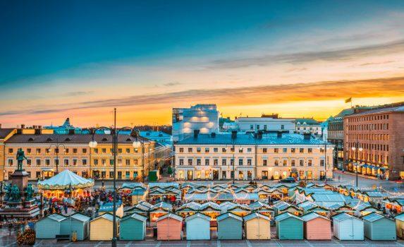 フィンランドのクリスマスの風景 ヘルシンキ フィンランドの風景