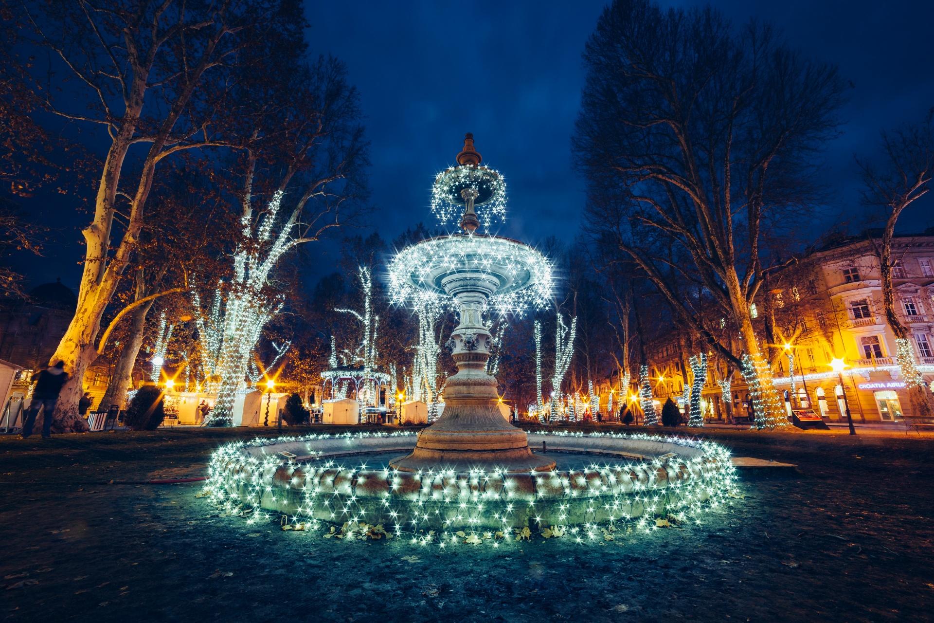 クロアチアのクリスマスの風景 ザグレブ クロアチアの風景