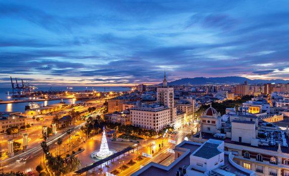 スペインのクリスマスの風景 マラガ スペインの風景