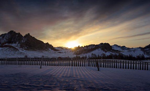 朝の風景 モンゴルの風景