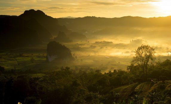 パヤオの風景 タイの風景