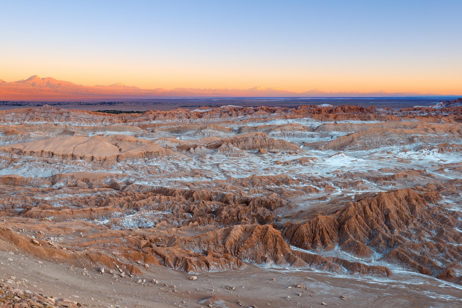 アタカマ砂漠 月の谷の風景 チリの風景