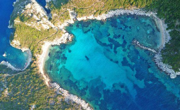 空から見るカリブ海の風景