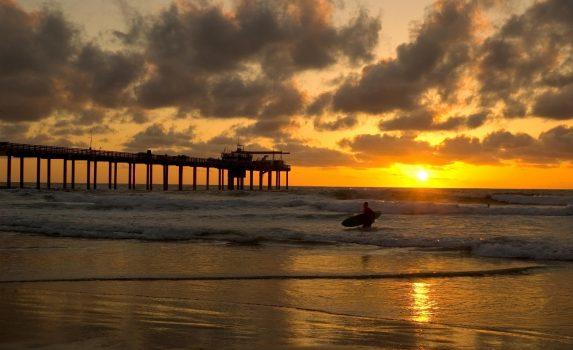 夕暮れの海 カリフォルニア アメリカの風景