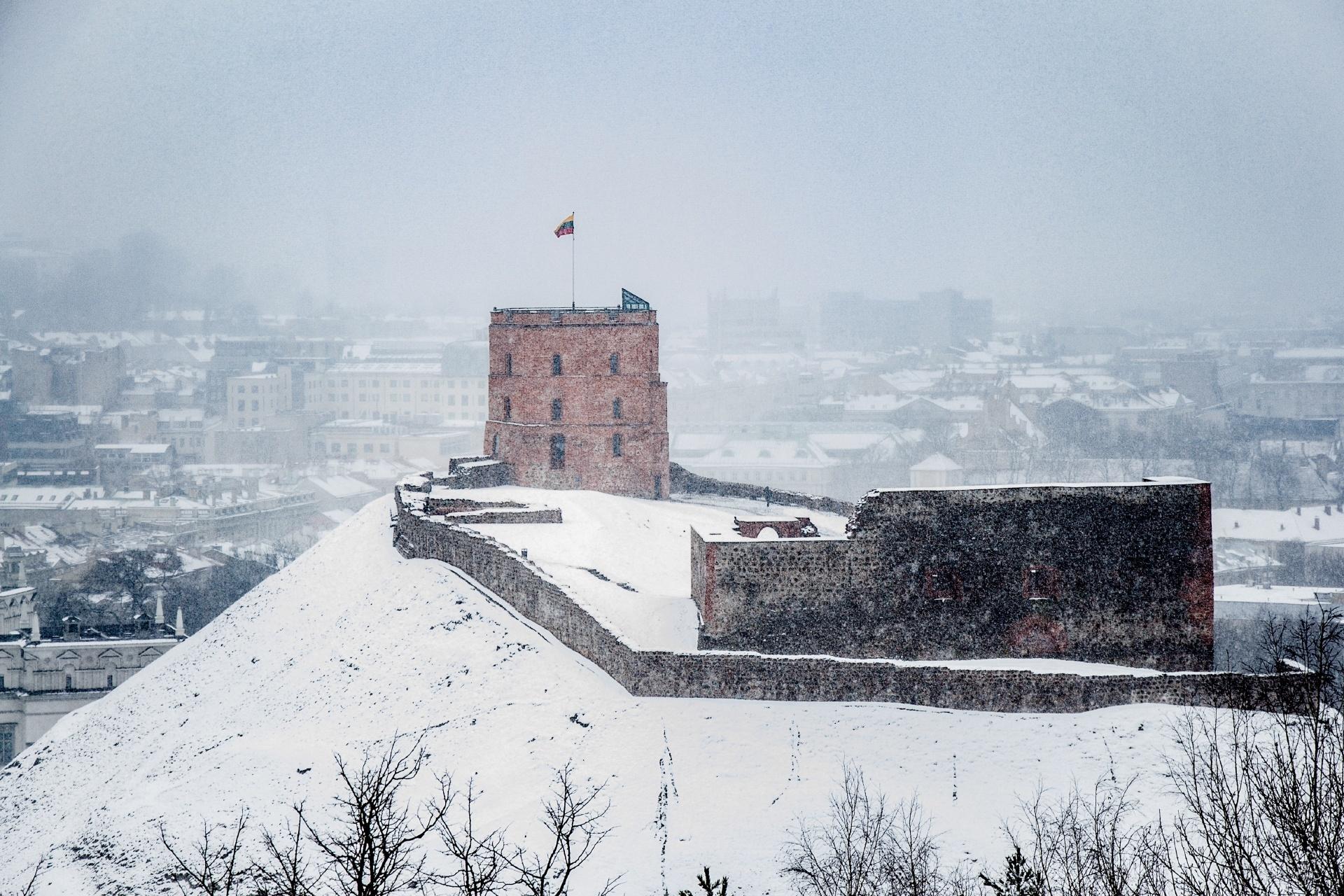 冬のヴィリニュス リトアニアの風景