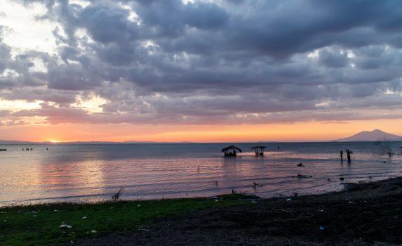 オメテペ島から見るニカラグア湖の風景 ニカラグアの風景